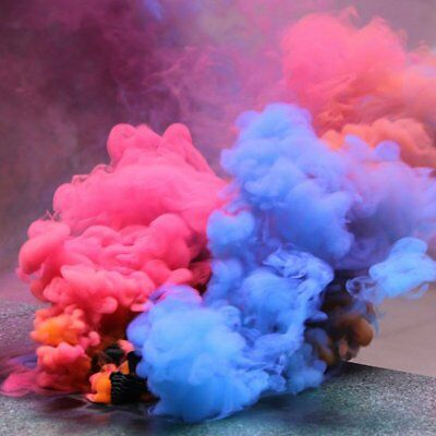 Colorful Smoke Cake Smoke Effect Show Round Bomb Photography Aid Toy Divine Gift