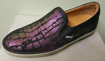 8864b618dd4a Jimmy Choo Woven Pink Green Slip-On Trainers Sneakers Sz 9.5 US 43.5 EU