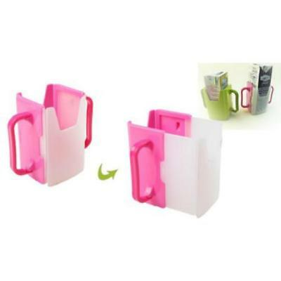 Baby Toddler Kid Adjustable Juice Milk Box Drinking Bottle Cup Holder 2 Colors A