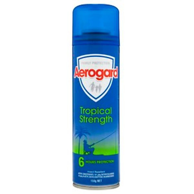 # 12 X Aeroguard Insect Repellent Spray Tropical Strength 6 Hr Protect 150G 12Pk