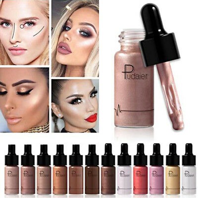 12Color Highlighter Liquid Shimmer Brightener Cream Makeup Highlight Illuminator