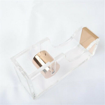 Clear Acrylic Rose Gold Stationery Washi Tape Dispensers Adhesive Band Cutter