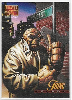 1995 Fleer Marvel Masterpieces Canvas # 21 of 22 Limited Edition THING