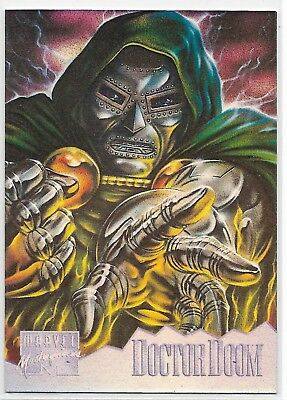 1995 Fleer Marvel Masterpieces Holoflash # 3 of 8 DOCTOR DOOM