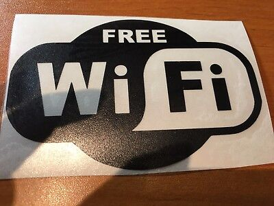 Sticker Free Wifi - Wifi Gratuit -  Vitrine Magasin Boutique Restaurant Bar