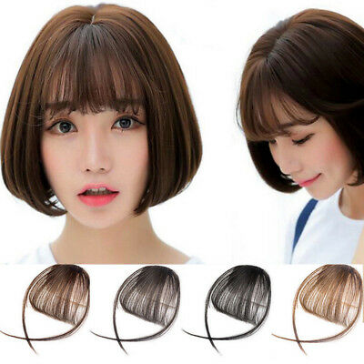 Cheveux Extension Femme fille Perruque Frange à clip Bandeau Wig Air Bang