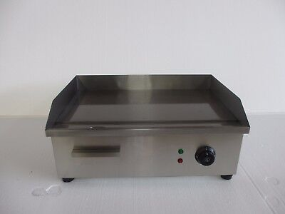 Commercial Electric Griddle Flat Hotplate Kitchen BBQ Grill Stainless Steel 55cm