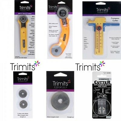 Trimits Rotary Cutter 28mm, 45mm or Compass Cutter or Replacement Blades