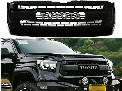 for 2016 2017 toyota tacoma front bumper hood grill matte. Black Bedroom Furniture Sets. Home Design Ideas