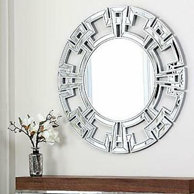Catalina NEW Silver Round Decorative Arts Antique Wall Luxury Mirrors