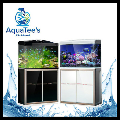 Aquatee Xq620A 110-L Aquarium+Cabinet Set Fish Tank Led Water Pump Filter White
