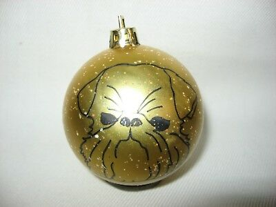 New Handpainted Brussels Griffon Unbreakable Christmas Ornament