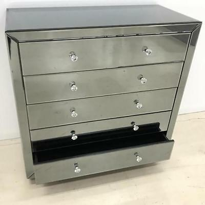 NEW Ibiza 5 Drawer Smokey Tallboy Luxury Mirrors