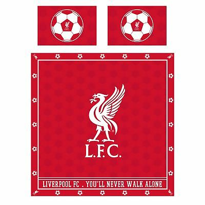 Liverpool FC LFC Red Duvet Cover Pillows Liverbird Soccer Ball NWT Official