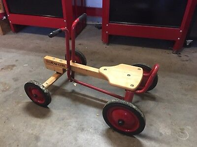Vintage Radio Flyer Row Cart Child's Seated Pedal Car Toy