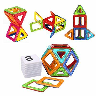 AMOSTING Magnetic Building Blocks Present Package Toy Tiles Bricks Kit