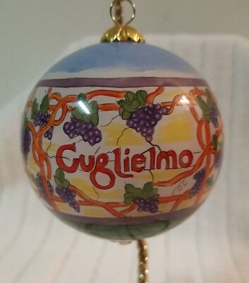 Guglielmo Winery Collectible Hand Painted Glass Ornament