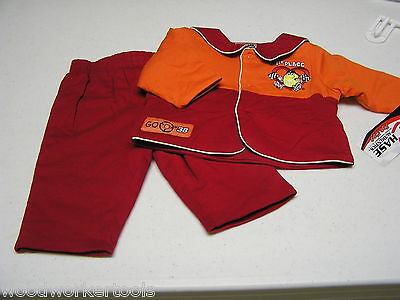 NASCAR #38 2 Piece New Born Outfit Red & Orange Size 0-3 Months Retail $38