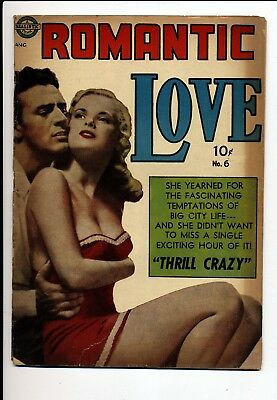 Romantic Love #6 G+ Kinstler Art Thrill Crazy With Marijuana Story Cvr Detached