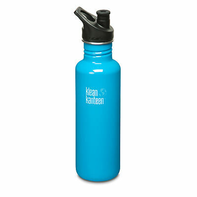 Klean Kanteen Classic 800ml drinks bottle with Sport Cap 3.0 - Channel Island