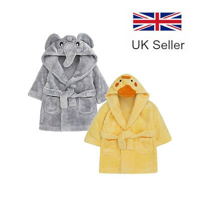 Baby Town   Animal Dressing Gown   Duck and Elephant   Bath Robe   6-24 Months