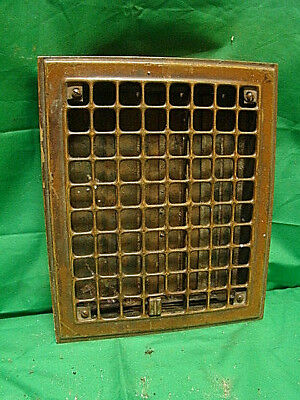 Vintage 1920S Iron Heating Grate Square Design 11.75 X 9.75 Ty