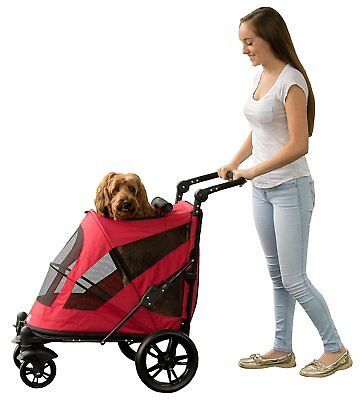 Pet Gear Excursion NO-ZIP Pet Dog Stroller in 4 colors with front or back entry