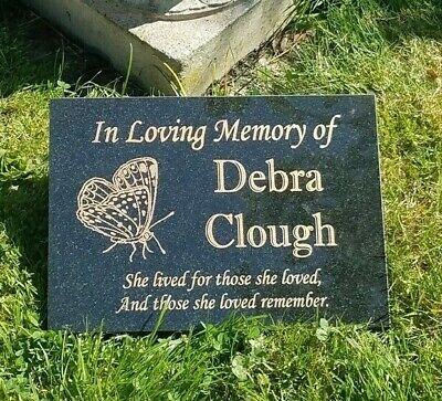 Black Granite Memorial Grave Plaque Headstone Engraved Personalised Any Wording