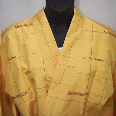 """Vintage Japanese Dochugi XL Kimono Jacket Casual Cover Up """"Crisp and Clean"""""""