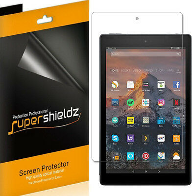 3X SuperShieldz Clear Screen Protector Saver for Amazon Fire HD 10 (2017/2019)