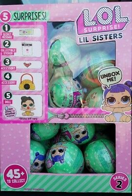 SERIES 2 LOL Surprise Lil Little Sisters DOLL 5 Layers L.O.L AUTHENTIC 1 BALL