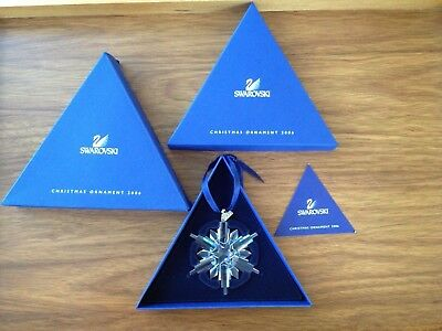2006 Swarovski Large Crystal Snowflake Christmas Ornament Box  Austria