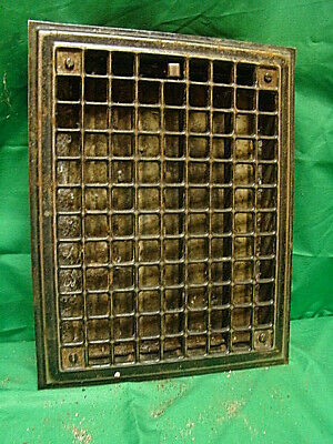Vintage 1920S Iron Heating Grate Rectangular 14 X 11  G