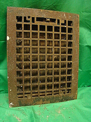 Antique Cast Iron Heating Grate Square Design 14 X 11 Yc