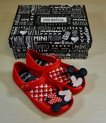 Mini Melissa Ultragirl + Disney Twins Girl's Mary Jane Shoes in Red