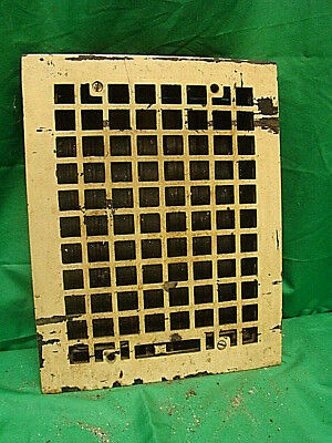 Antique Cast Iron Heating Grate Square Design 14 X 11 Sf