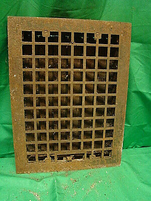 Vintage 1920S Cast Iron Heating Grate Square Design 16 X 12 Hg