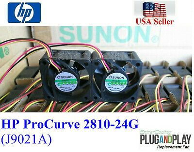 Pack of 2x New OEM fans for HP ProCurve 2810-24G Fan Kit (J9021A)