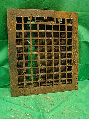Vintage 1920S Cast Iron Heating Grate Square Design 14 X 12 Jgh