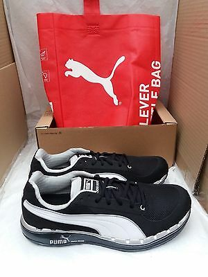 Puma FAAS 500 Trainers with Ortholite Soles & Eco Bag - Black/White Size UK 10.5