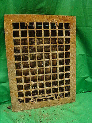 Vintage 1920S Cast Iron Heating Grate Square Design 16 X 12 Td