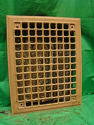 Vintage 1920S Iron Heating Grate Rectangular 14 X 11  Ij