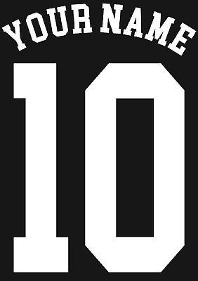 Personalised Name and Number Football Shirt DIY Iron on Vinyl Transfer for Shirt