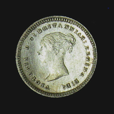 1883 Great Britain Silver Two 2 Pence KM# 729 Prooflike Victoria Maundy 7,232 mi