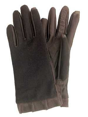 Isotoner Smart Touch Womens Chocolate Brown Ruffle Tech & Text Gloves Smartouch