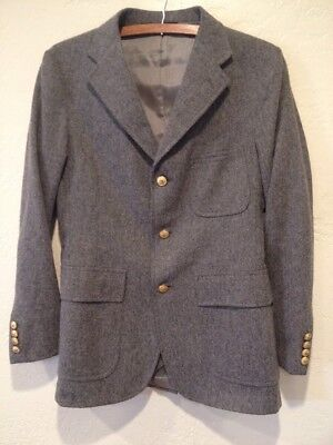 VTG Polo Ralph Lauren Green Label 3 Button Wool Equestrian Blazer Boys 19R