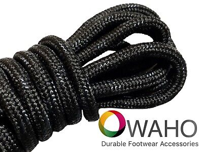 Black with Black Kevlar ® Heavy Duty Reinforced Shoe / Boot Laces