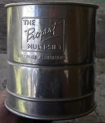 collectable 1940's kitchen PROPERT MULTI-SIFT flour sifter MADE IN AUSTRALIA
