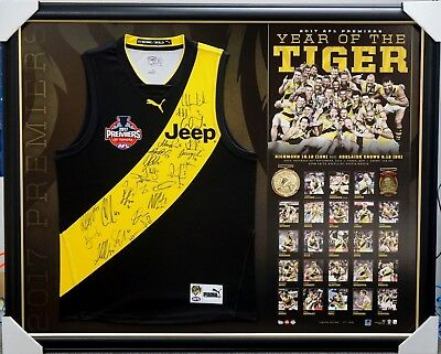 Richmond Tigers Signed 2017 Premiers Jumper Framed Afl - In Stock Now