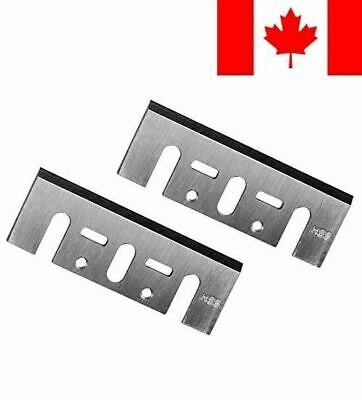 POWERTEC 128341 3-1/4-Inch HSS Planer Blades for Makita D17217 N1900B, Set of 2